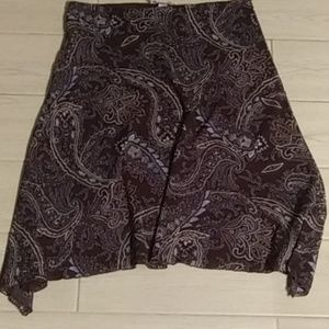 Woman's Nine & Co. Brown Paisley Skirt Size Medium